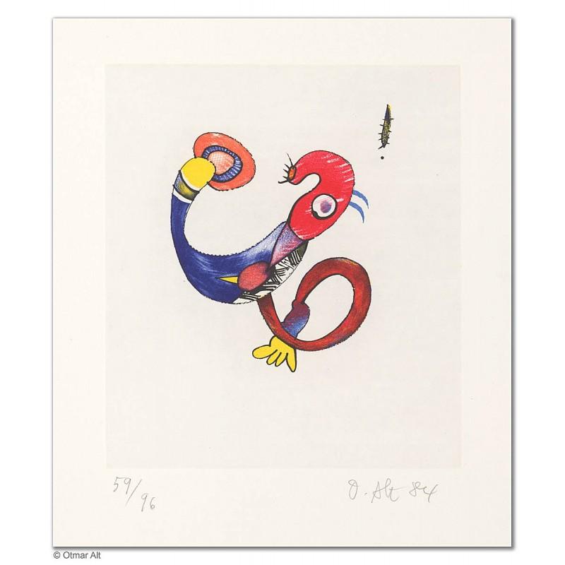 """Original Bild """"KOPFPROBLEM NR. 1"""" von Otmar Alt - Kunst mit Zertifikat kaufen"""