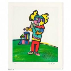 """Original Bild """"MUSIKANTEN: DER GEIGER"""" von Otmar Alt - Kunst mit Zertifikat kaufen"""