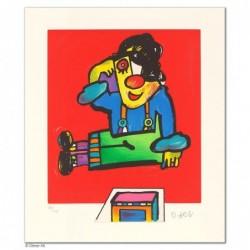 """Original Bild """"SCHWEBT ER?"""" von Otmar Alt - Kunst mit Zertifikat kaufen"""