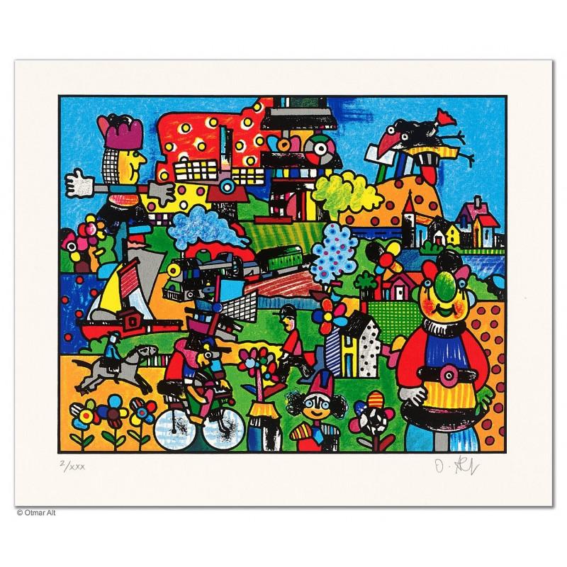 """Original Bild """"AN DER EMSCHER"""" von Otmar Alt - Kunst mit Zertifikat kaufen"""