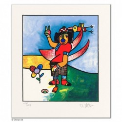 """Original Bild """"BIRDIE PUT"""" von Otmar Alt - Kunst mit Zertifikat kaufen"""