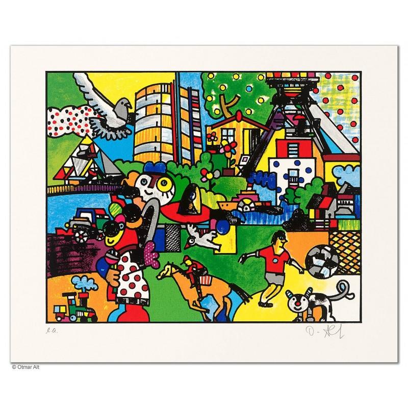 """Original Bild """"DAS HERZ DES REVIERS"""" von Otmar Alt - Kunst mit Zertifikat kaufen"""