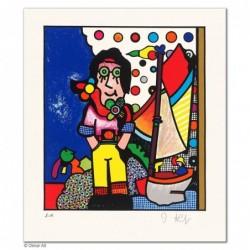 """Original Bild """"DER JUNGE MANN UND DAS MEER"""" von Otmar Alt - Kunst mit Zertifikat kaufen"""