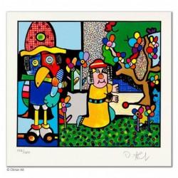 """Original Bild """"ELIJA UND DER RABE"""" von Otmar Alt - Kunst mit Zertifikat kaufen"""