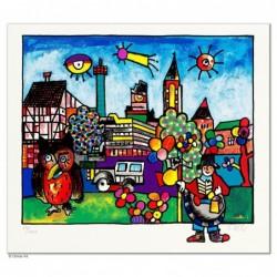 """Original Bild """"EUSKIRCHEN"""" von Otmar Alt - Kunst mit Zertifikat kaufen"""