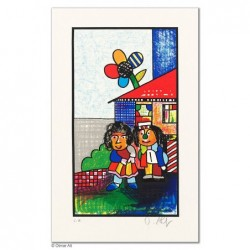 """Original Bild """"FAMILIENGLÜCK - DAS PAAR"""" von Otmar Alt - Kunst mit Zertifikat kaufen"""