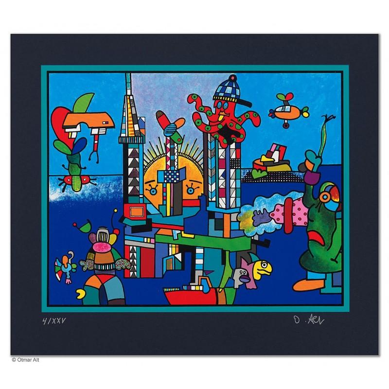 """Original Bild """"GAS-UNION"""" von Otmar Alt - Kunst mit Zertifikat kaufen"""