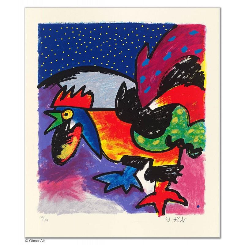"""Original Bild """"HAHN - DAS DARF DOCH NICHT WAHR SEIN"""" von Otmar Alt - Kunst mit Zertifikat kaufen"""