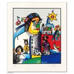 """Original Bild """"KOLPING - SEBASTIAN KNEIPP"""" von Otmar Alt - Kunst mit Zertifikat kaufen"""