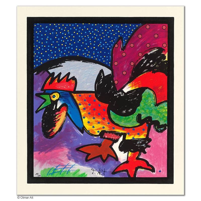 """Original Bild """"NACHTRUF"""" von Otmar Alt - Kunst mit Zertifikat kaufen"""