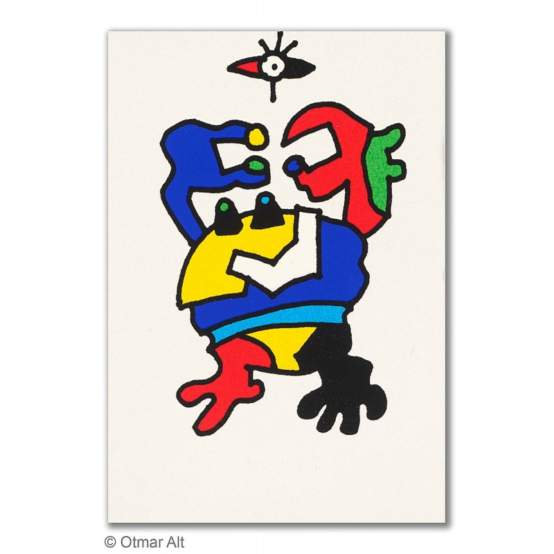 """Original Bild """"STERNZEICHEN KREBS"""" von Otmar Alt - Kunst mit Zertifikat kaufen"""