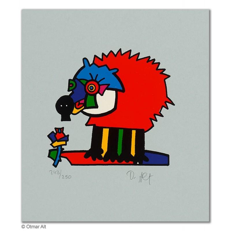 """Original Bild """"ZOOTIERE IGEL"""" von Otmar Alt - Kunst mit Zertifikat kaufen"""
