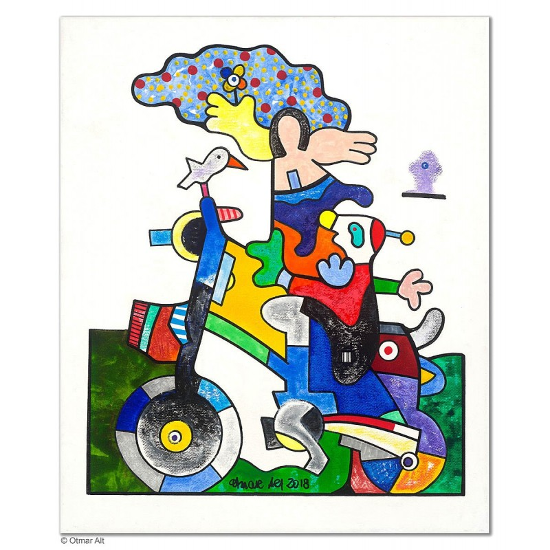 """Original Bild """"Beflügelt"""" von Otmar Alt - Kunst mit Zertifikat kaufen"""