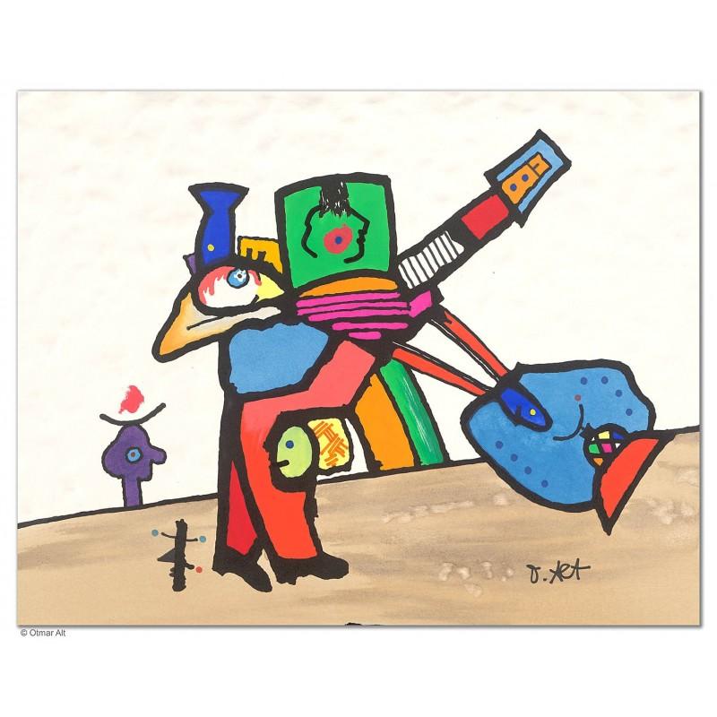 """Original Bild """"DER ANGLER"""" von Otmar Alt - Kunst mit Zertifikat kaufen"""