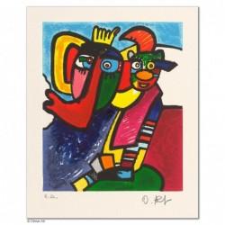 """Original Bild """"ZIRKUS ZIRKUS  - DIE GROSSE NUMMER"""" von Otmar Alt - Kunst mit Zertifikat kaufen"""
