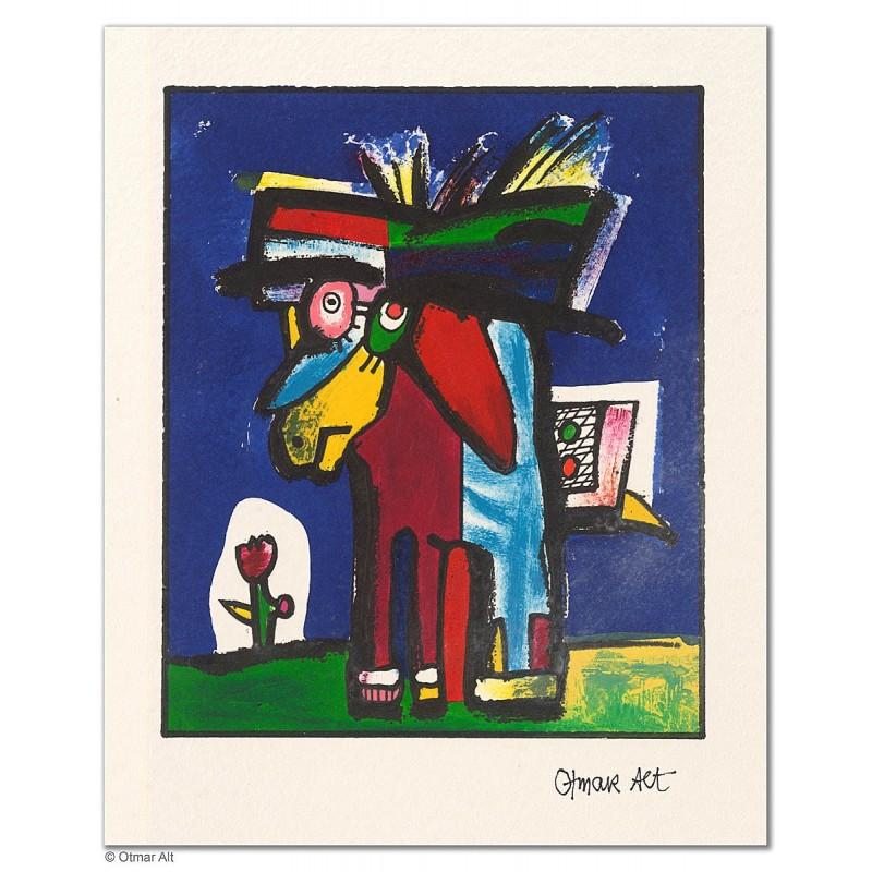 """Original Bild """"DAS PONY (VARIATIONEN)"""" von Otmar Alt - Kunst mit Zertifikat kaufen"""