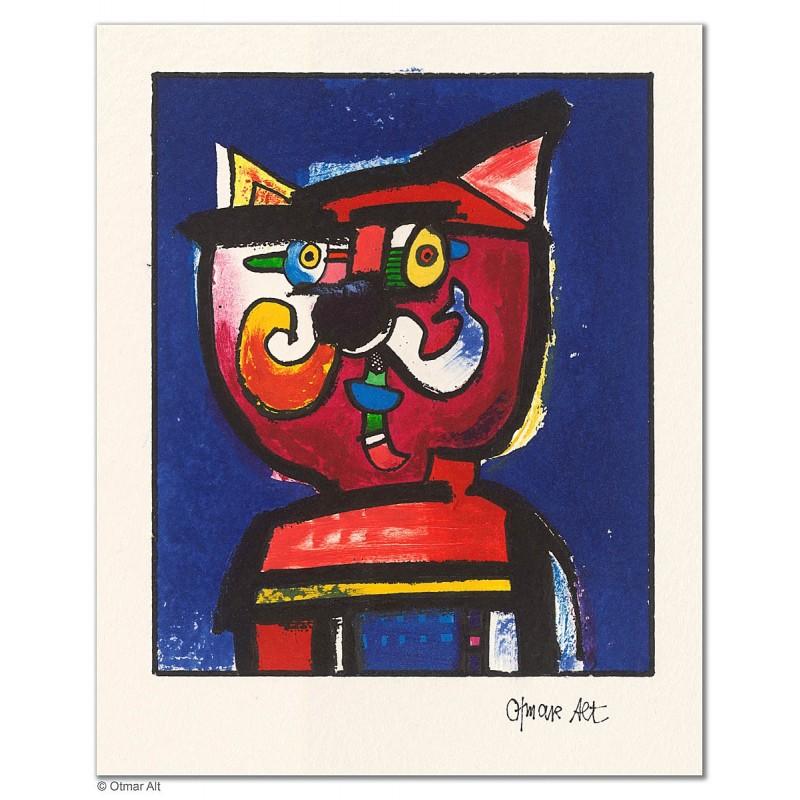 """Original Bild """"HOFHUND (VARIATIONEN)"""" von Otmar Alt - Kunst mit Zertifikat kaufen"""