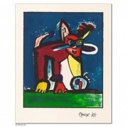 """Original Bild """"WILDKATZE (VARIATIONEN)"""" von Otmar Alt - Kunst mit Zertifikat kaufen"""