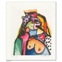 """Original Bild """"HOMMAGE A P.P."""" von Otmar Alt - Kunst mit Zertifikat kaufen"""