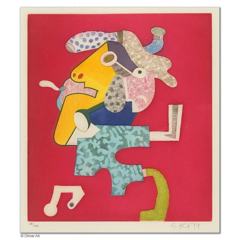 """Original Bild """"Meistersinger"""" von Otmar Alt - Kunst mit Zertifikat kaufen"""