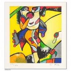 """Original Bild """"ONKEL PELLE - GELB"""" von Otmar Alt - Kunst mit Zertifikat kaufen"""