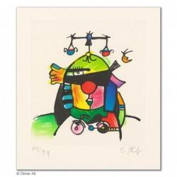 """Original Bild """"JUSTUS-WAAGEN-RAT"""" von Otmar Alt - Kunst mit Zertifikat kaufen"""