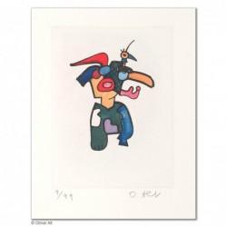 """Original Bild """"LIPPENSCHNABLER"""" von Otmar Alt - Kunst mit Zertifikat kaufen"""