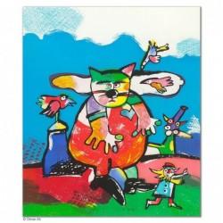 """Original Bild """"SCHAUSPIELER"""" von Otmar Alt - Kunst mit Zertifikat kaufen"""
