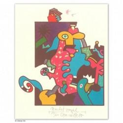 """Original Bild """"Nachtvogel"""" von Otmar Alt - Kunst mit Zertifikat kaufen"""
