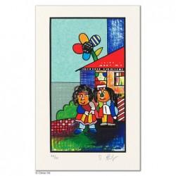 """Original Bild """"FAMILIENGLÜCK - DAS PAAR - FARBVARIATION"""" von Otmar Alt - Kunst mit Zertifikat kaufen"""