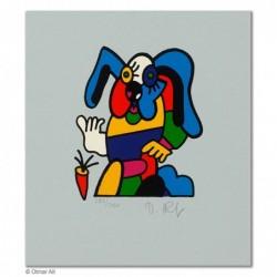 """Original Bild """"ZOOTIERE HASE"""" von Otmar Alt - Kunst mit Zertifikat kaufen"""