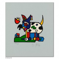 """Original Bild """"ZOOTIERE HUND"""" von Otmar Alt - Kunst mit Zertifikat kaufen"""