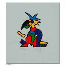 """Original Bild """"ZOOTIERE PAPAGEI"""" von Otmar Alt - Kunst mit Zertifikat kaufen"""