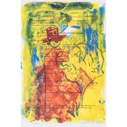 Armin Mueller-Stahl Kunst Bild kaufen Auf der Strasse | handsigniertes Original