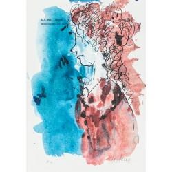 Armin Mueller-Stahl Kunst Bild kaufen Christians Geliebte Aline | handsigniertes Original