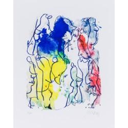 Armin Mueller-Stahl * Fröhliches Gewimmel handsigniertes Original Kunst Bild kaufen