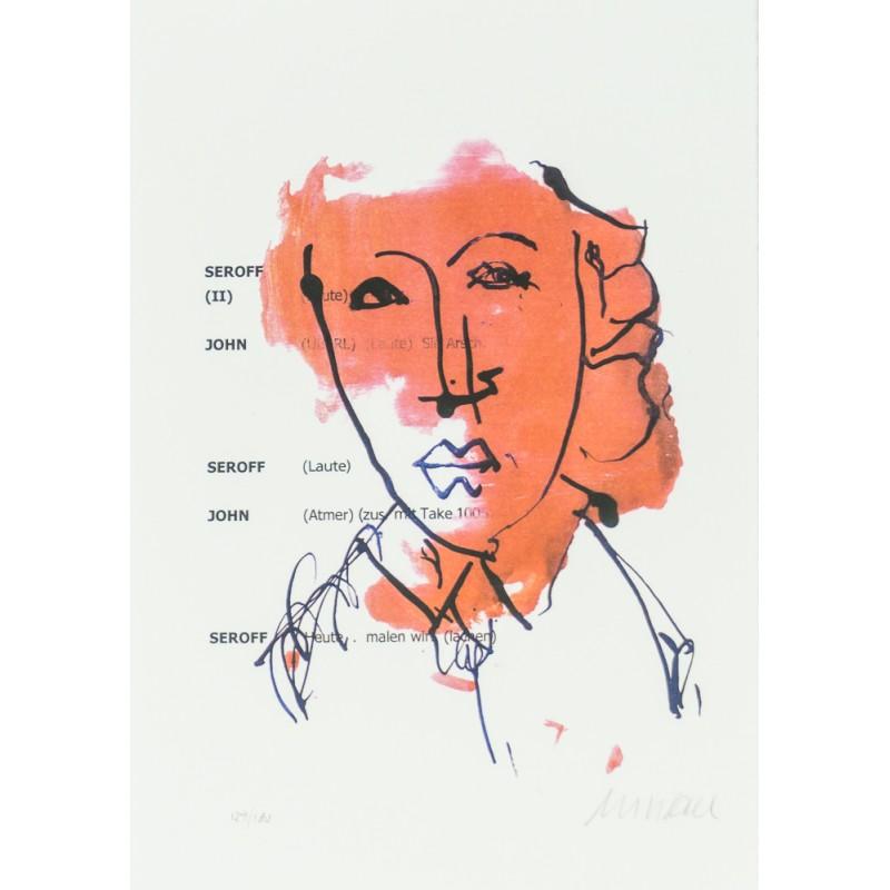 Armin Mueller-Stahl * Heute malen wir handsigniertes Original Kunst Bild kaufen