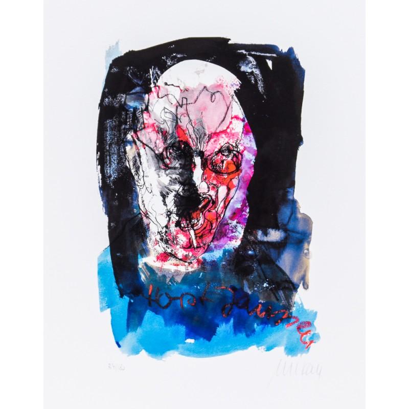 Armin Mueller-Stahl * Portrait Horst Janssen - Paranoia handsigniertes Original Kunst Bild kaufen