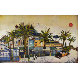 "Jutta Votteler ""El Tramvia Blau del Tibidabo"" Bilder im Original kaufen."