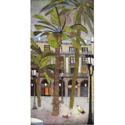 """Jutta Votteler """"Barcelona Plaza Real"""" Bilder im Original kaufen."""