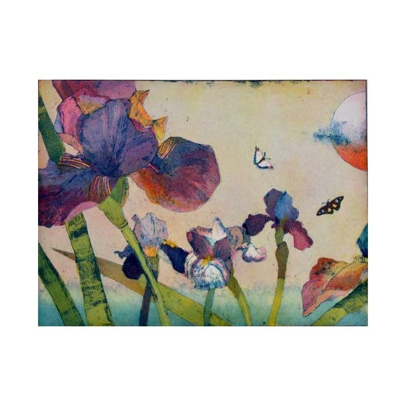 """Jutta Votteler """"Blaue Iris"""" Bilder im Original kaufen."""