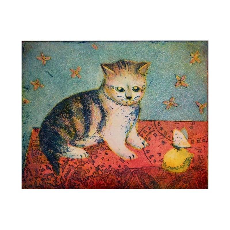 """Jutta Votteler """"Junges Kätzchen"""" Bilder im Original kaufen."""