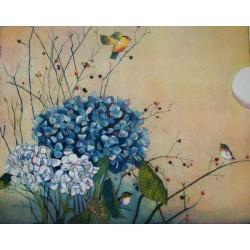 """Jutta Votteler """"Im Hortensiengarten"""" Bilder im Original kaufen."""