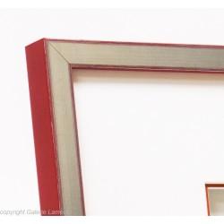 Rot Silber Rahmen