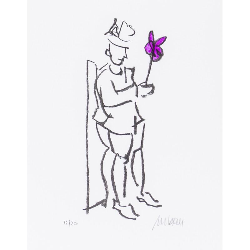 """Armin Mueller Stahl Original Bilder kaufen """"Kompliment violett"""""""