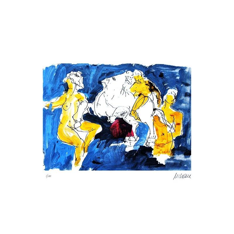 """Armin Mueller-Stahl """"Pegasus mit Nymphen"""" Original Bilder kaufen"""