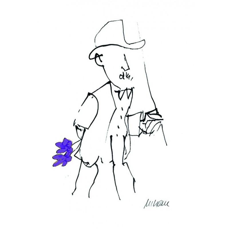 Armin Mueller-Stahl Kunst Bild kaufen Gratulation, violett handsigniertes Original