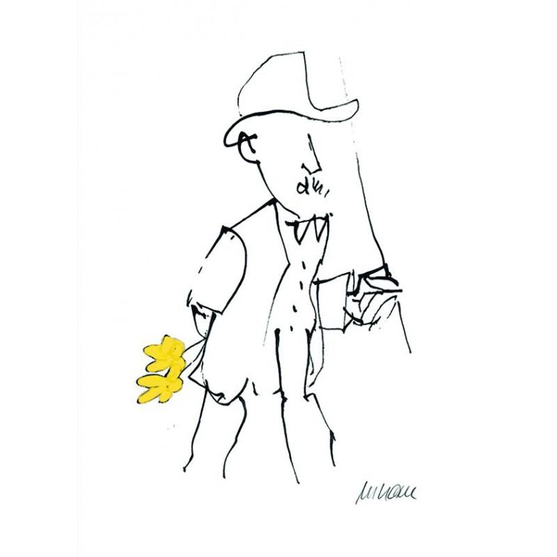 Armin Mueller-Stahl Kunst Bild kaufen Gratulation, gelb handsigniertes Original