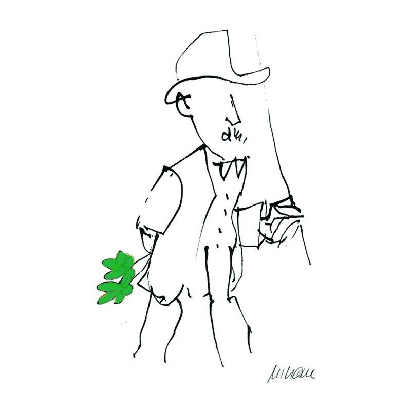 Armin Mueller-Stahl Kunst Bild kaufen Gratulation, grün handsigniertes Original