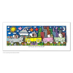 "James Rizzi ""Let's go on a fun ride"" Neuerscheinung 2020 Original 3D Bild kaufen"